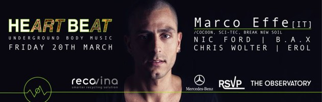 Marco Effe – Q&A – 20 March @the Observatory